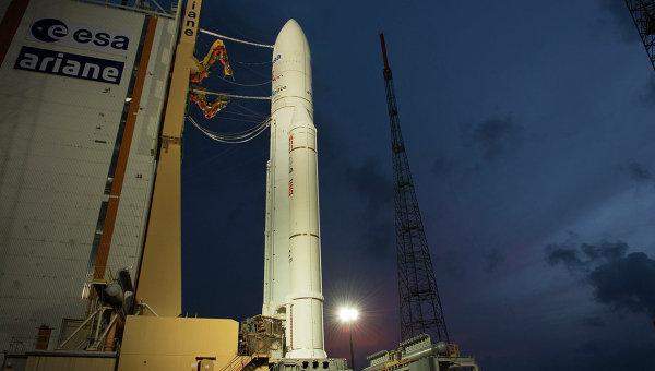 Запуск ракеты-носителя Ariane-5 скосмодрома Куру воФранции прошел удачно