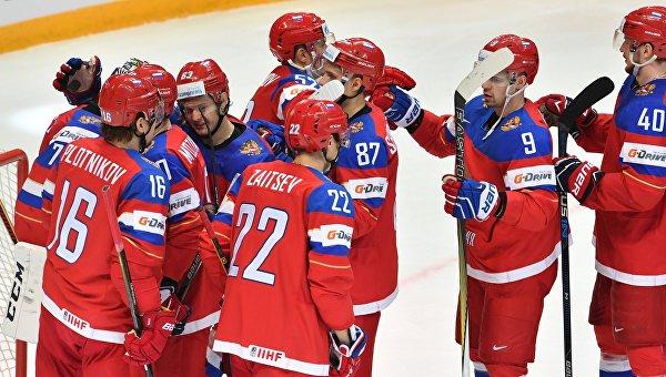 Сборная Российской Федерации разгромила команду Латвии начемпионате мира похоккею