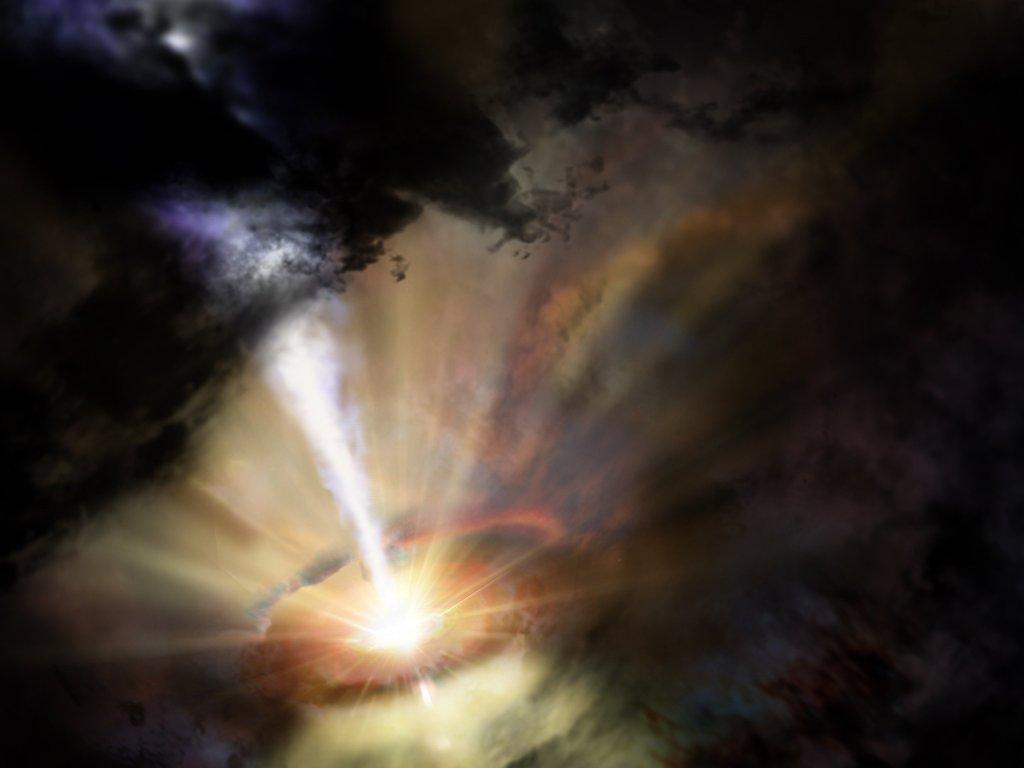 Астрономы заявили что над черной дырой в галактике Abell 2597 идет холодный дождь