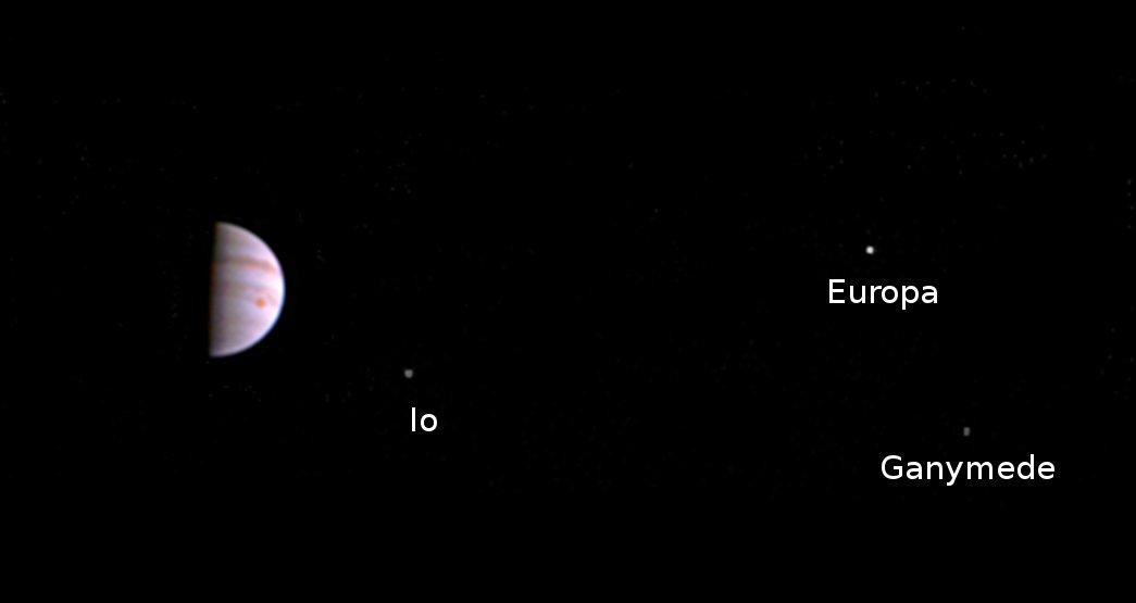 Межпланетная станция Juno сказала наЗемлю первое фото Юпитера