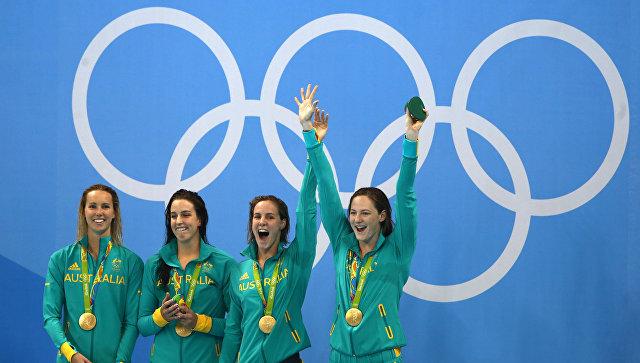 Австралийки выиграли эстафету 4 по100м вольным стилем