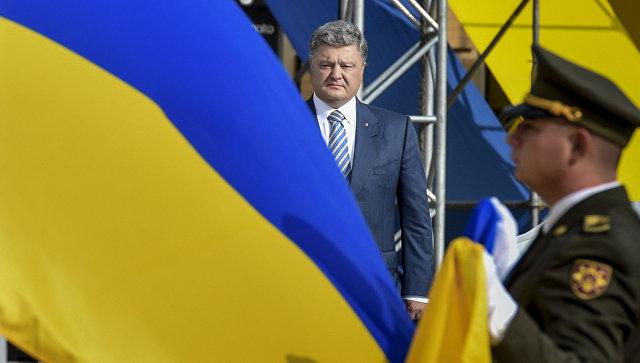 После церемонии наСофийской площади Порошенко отправился взону АТО
