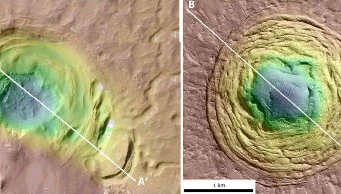 НаМарсе найдены воронки, может быть, хранящие следы жизни