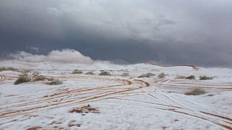 ВСаудовской Аравии выпал снег